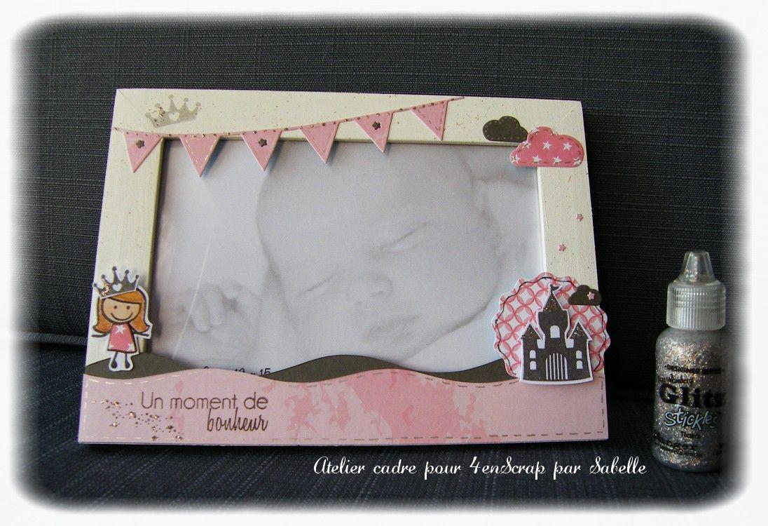 cadre pour photo 10x15 personnalis sur le th me princesse id e cadeau pour une naissance ou. Black Bedroom Furniture Sets. Home Design Ideas