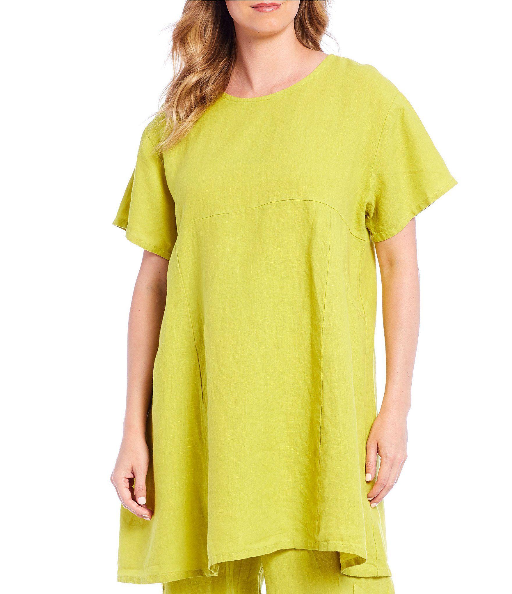 Bryn Walker Mara Short Sleeve Light Linen Tunic - Noni L #linentunic