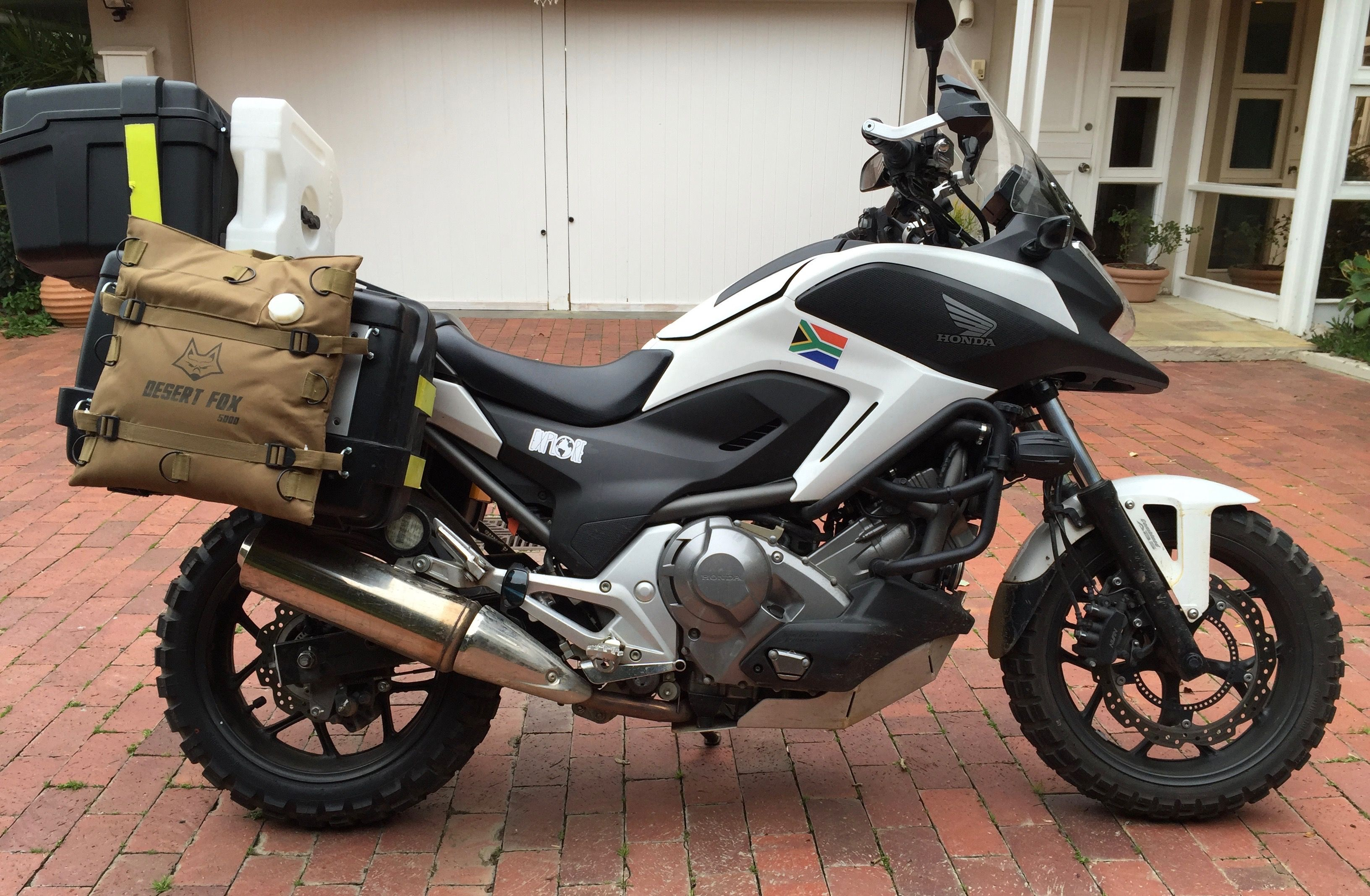Honda Nc700x Dct Adventure Ready Cape Town To Kenya 2 With Images