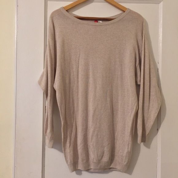 H&M Tunic Sweater NO TRADES NWOT H&M Tan/Oatmeal Tunic Sweater ...