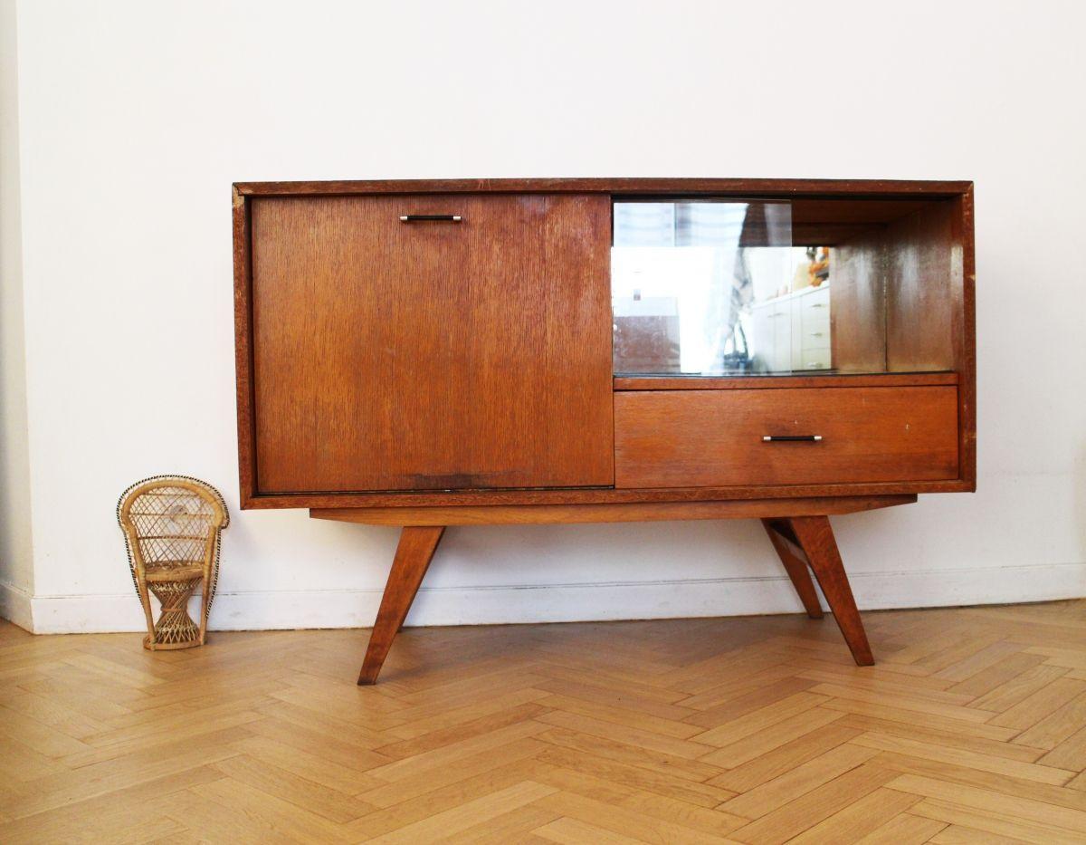 Enfilade Scandinave Vintage Occasion A Acheter Pieds Compas Annees 70 Annees 60 Annees 50 En Teck Deco Annee 60 Decoration Annees 50 Mobilier De Salon