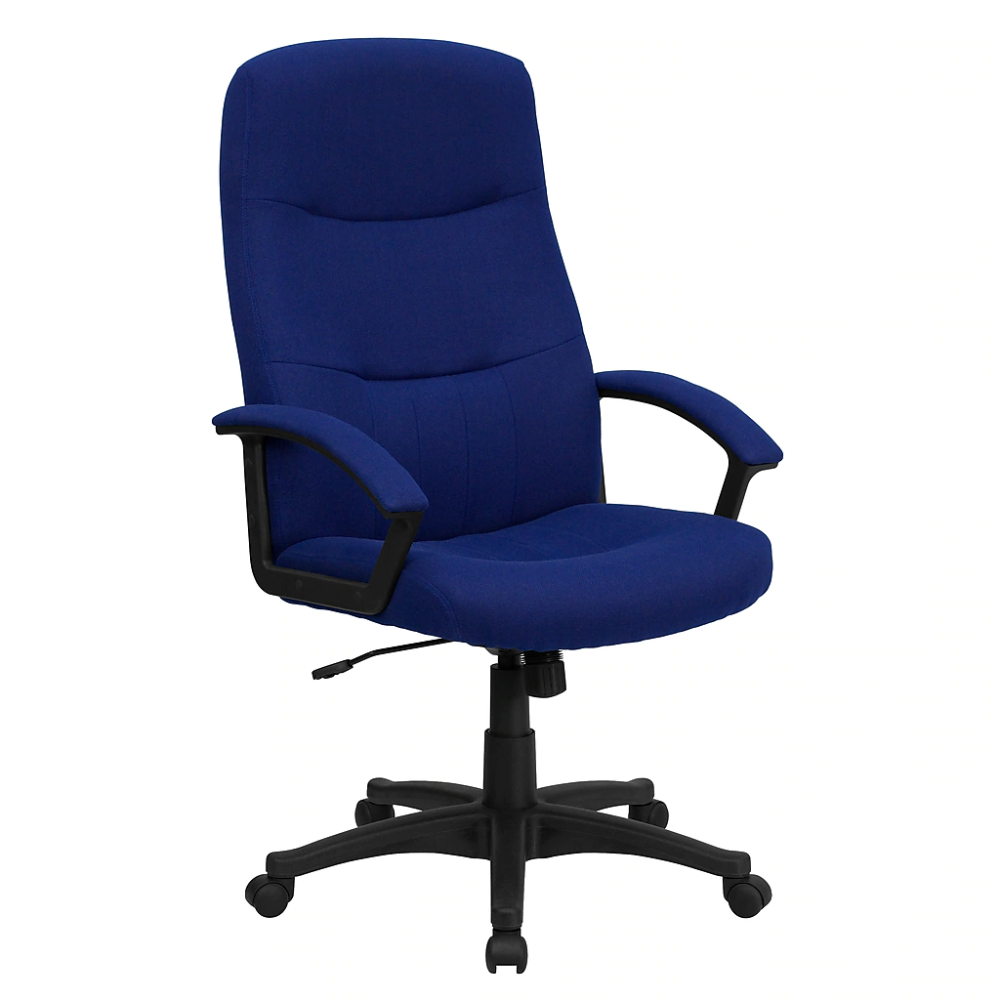 Flash Furniture Fabric Executive Office Chair Fixed Arms Navy Blue Bt134anvy At Staples In 2020 Swivel Office Chair Office Chair Reclining Office Chair