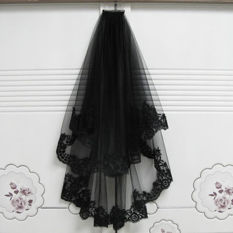 Black Wedding Veil Two Layers -   13 wedding Veils birdcage ideas