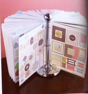 Paper Towel Holder turned Scrapbook paper/sticker holder. Great idea. #papertowelholders