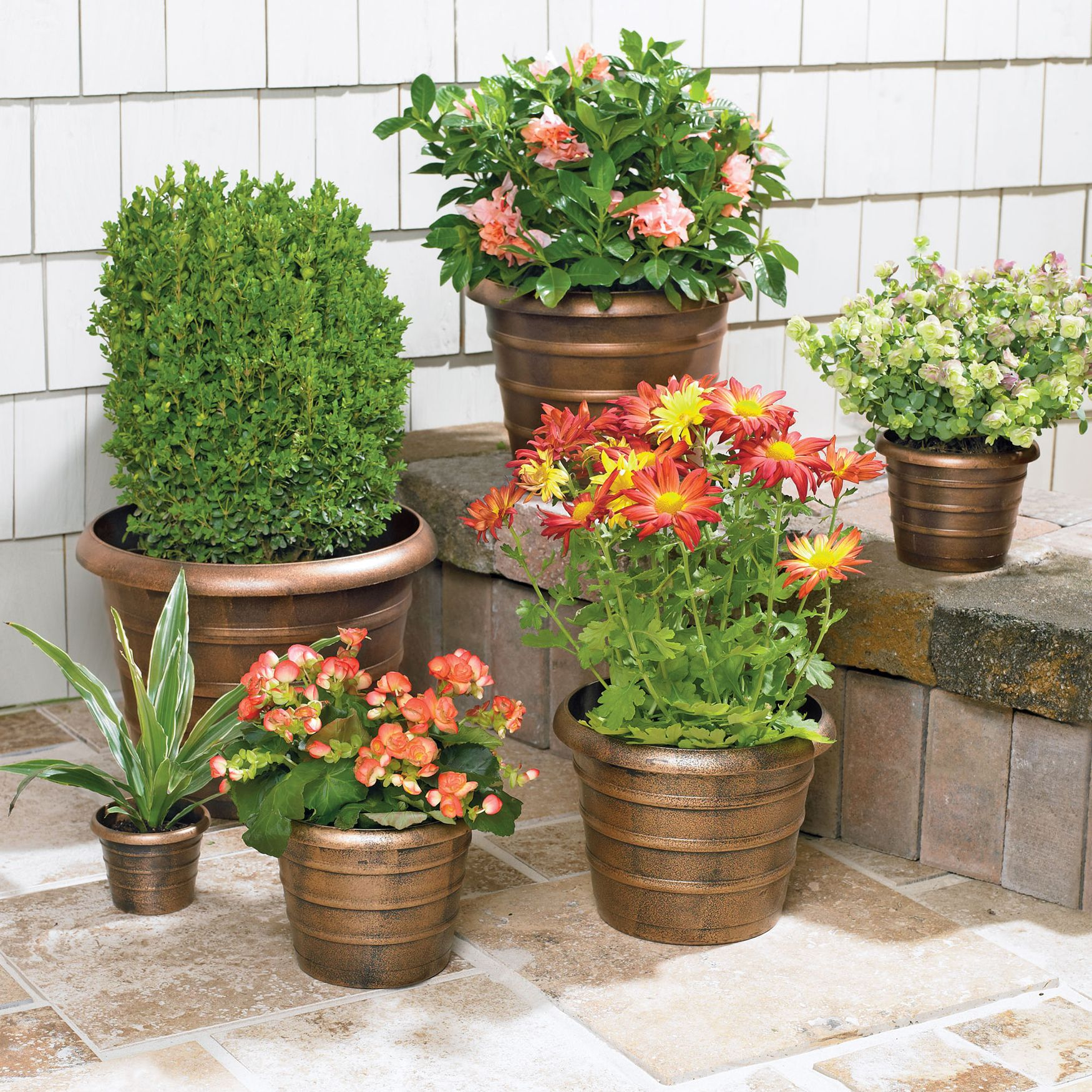 Nesting Planters, 6 Pc Set - Outdoor Living - Brylanehome