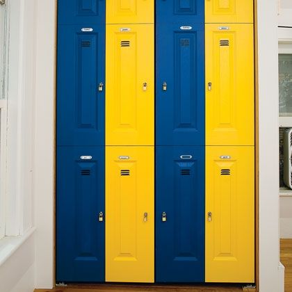 Sports Fan Bedroom Closet   Found My Link On How To Make Locker Closet  Doors!