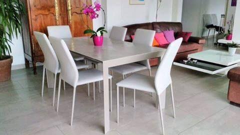 Albatros Sedie ~ Table de repas rectangulaire plateau céramique tables et chaises
