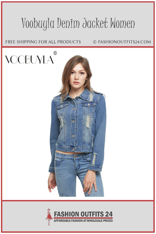 1031abfb0da Voobuyla Bras Plus Size 5XL 6XL Autumn Oversize Denim Jacket Women Slim  Cotton Light Washed Long