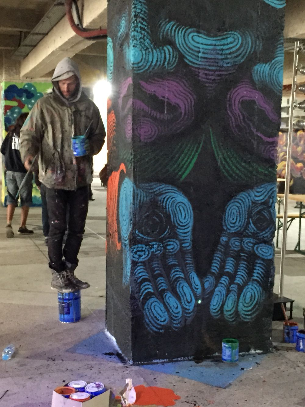 street art docks cit de la mode chromatic peinture seigneurie seigneurie pinterest. Black Bedroom Furniture Sets. Home Design Ideas