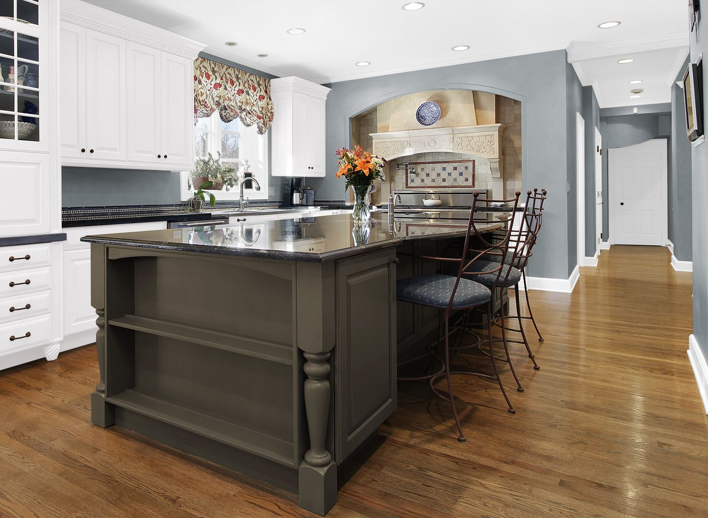 Paint Colors For Living Room And Kitchen Kitchen In Ascot Blue Kitchens Rooms By Color Colortopia