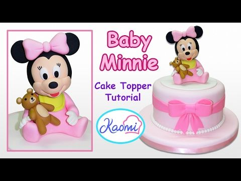 How to make Minnie Mouse Cake Topper Cmo hacer a Minnie Mouse