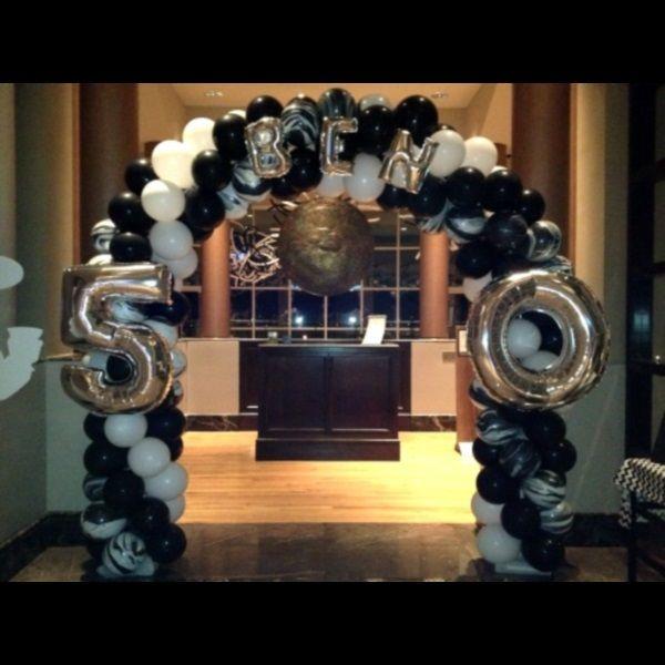Balloon Arches Festa 50 Anos Baloes De Festa Decoracao Com Baloes