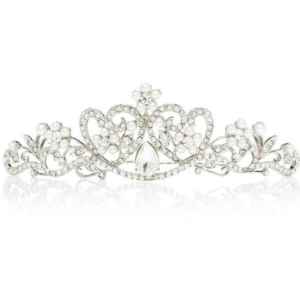 Forever New Aurora Crown (€11) ❤ liked on Polyvore featuring accessories, hair accessories, jewelry, tiaras, crowns, silver, forever new, silver hair comb, crown tiara and silver hair accessories