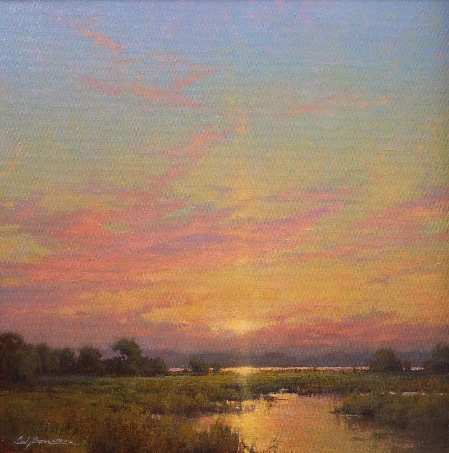 The Oil Painters Of America Has Welcomed These Two Artists As Master Signature Members Wh Sunset Landscape Painting Oil Painting Landscape Landscape Paintings