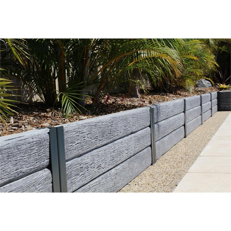 Ridgi 150mm X 50mm X 1 5m Gumtree Reinforced Concrete Sleeper 34 Bunnings Concrete Sleepers Concrete Retaining Walls Concrete Sleeper Retaining Walls