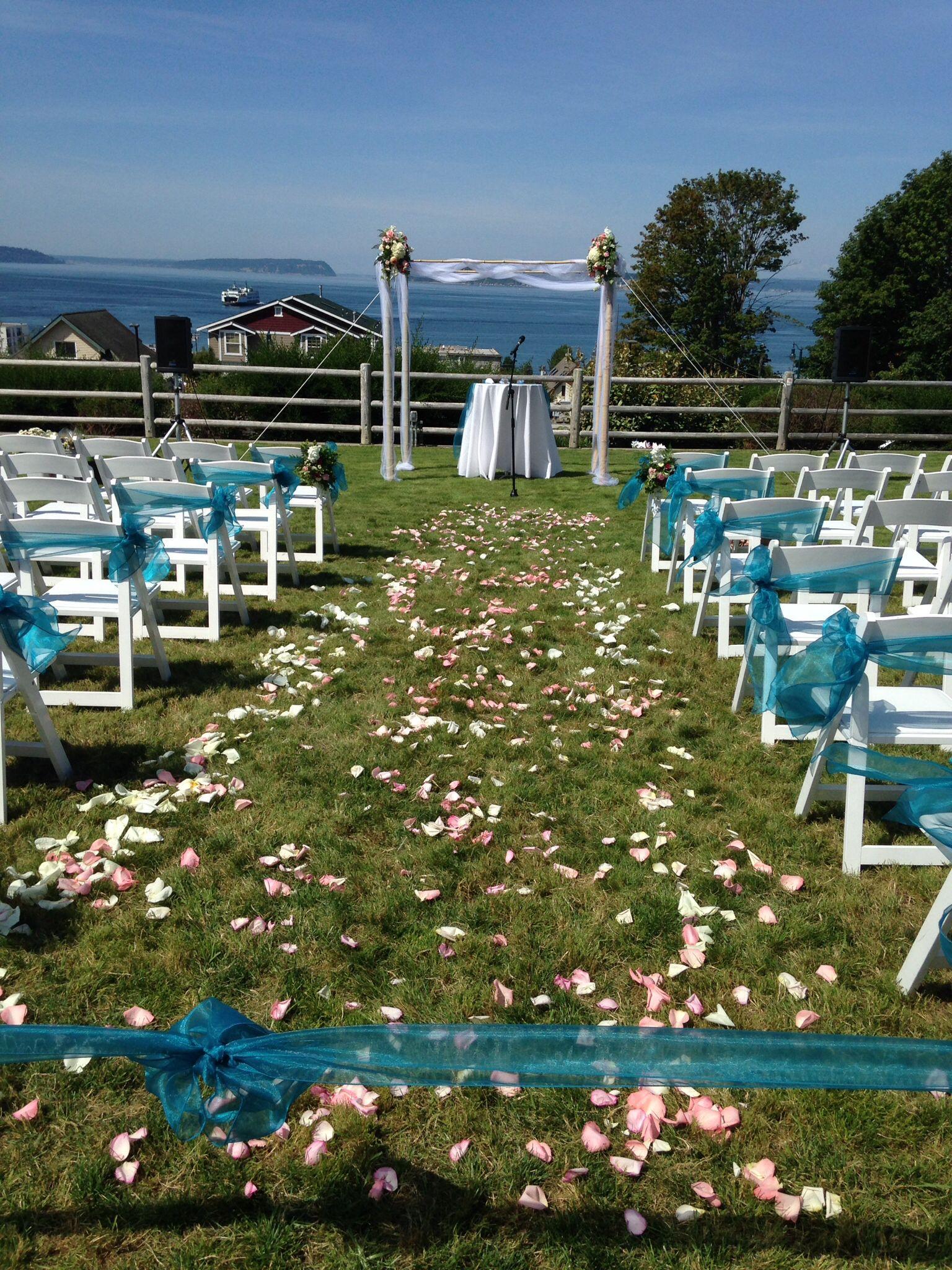 Wedding At Rosehill Community Center Mukilteo Wa 8 8 14 Tent Wedding Romantic Lighting Mukilteo Beach