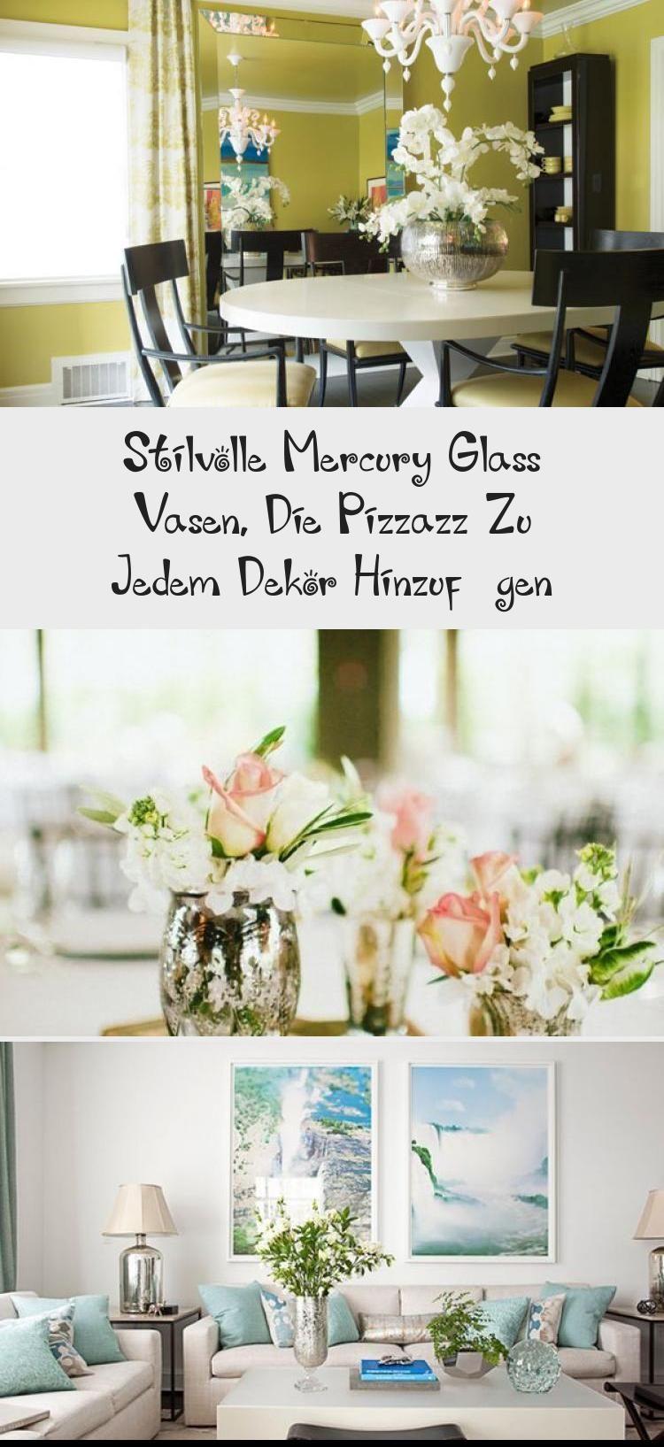 Photo of Stilvolle Mercury Glass Vasen, Die Pizzazz Zu Jedem Dekor Hinzufügen