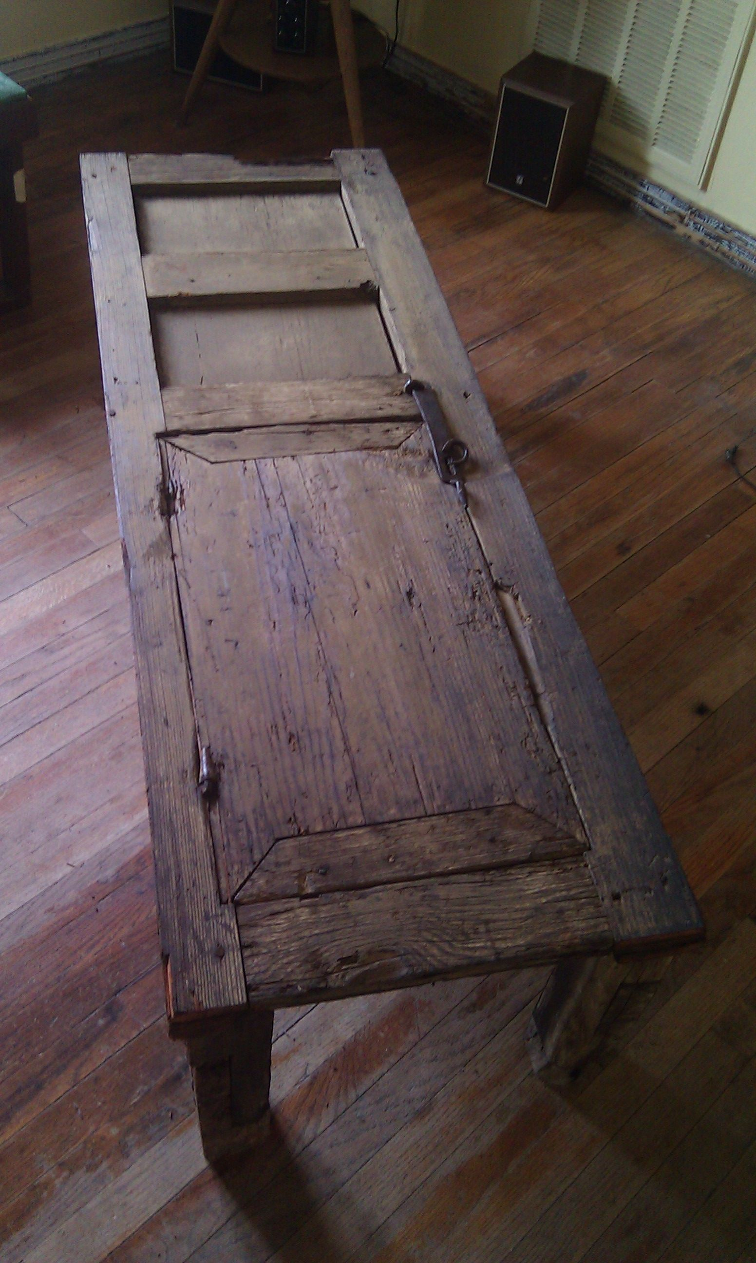 Antique Mexican Door Made Into Coffee Table Legs Were