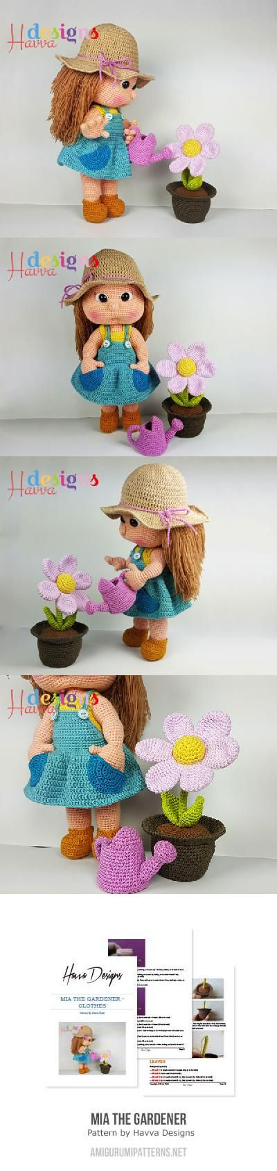 Mia The Gardener Amigurumi Pattern Crochet Knitting Weaving