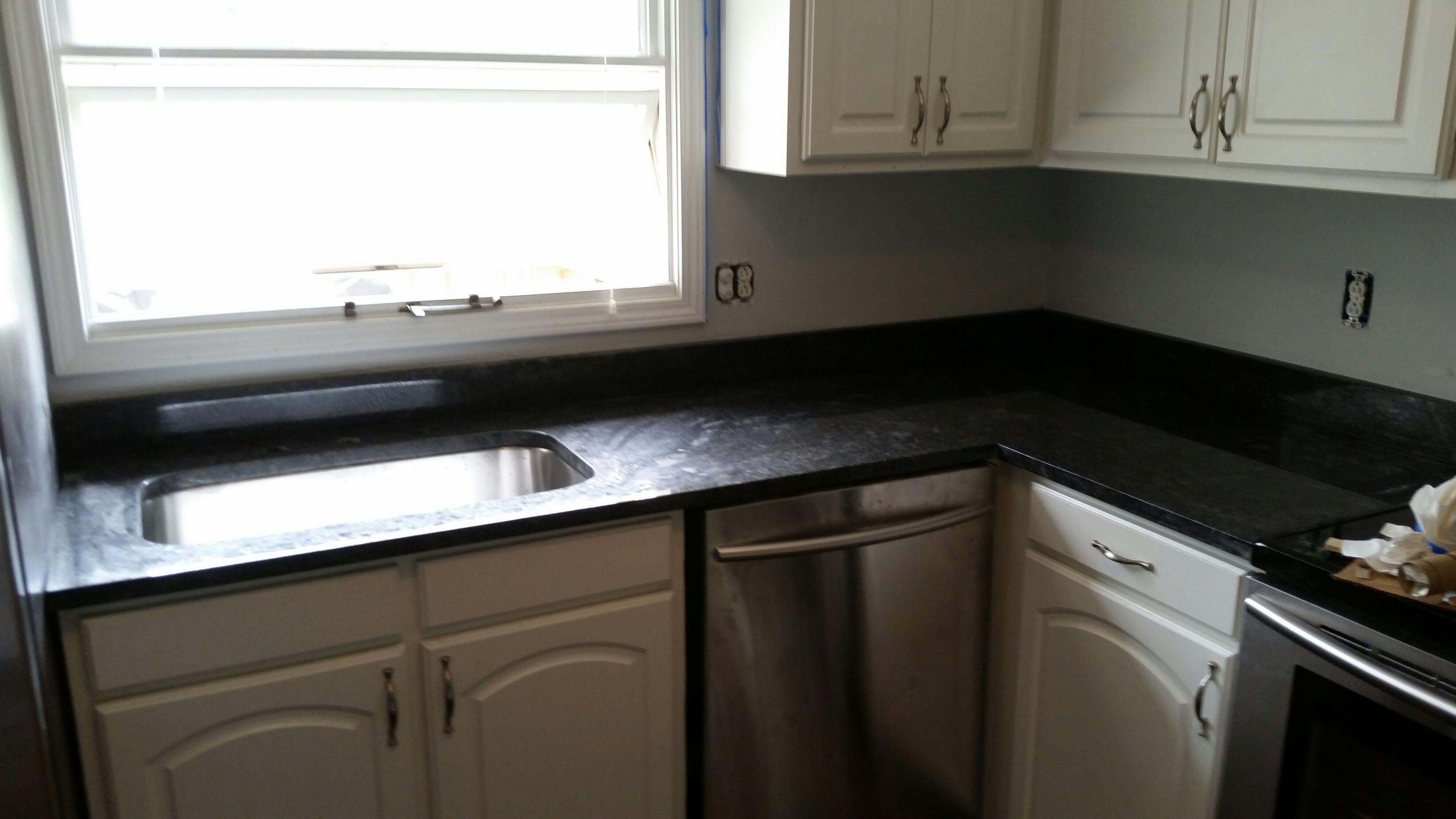 Steel Gray Granite Kitchen Countertop Install For The Cornell