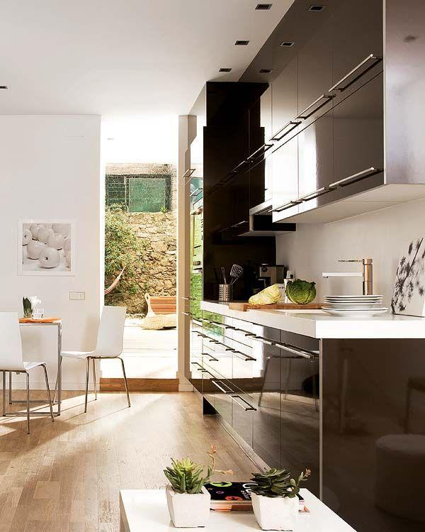 45m2 - primeiro ap MICASA Revista de decoración - cozinha Lofts