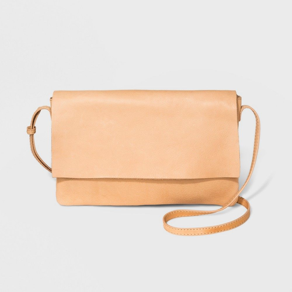 b810756433 Get a true classic with the Genuine Leather Crossbody Bag from Universal  Thread. Featuring a