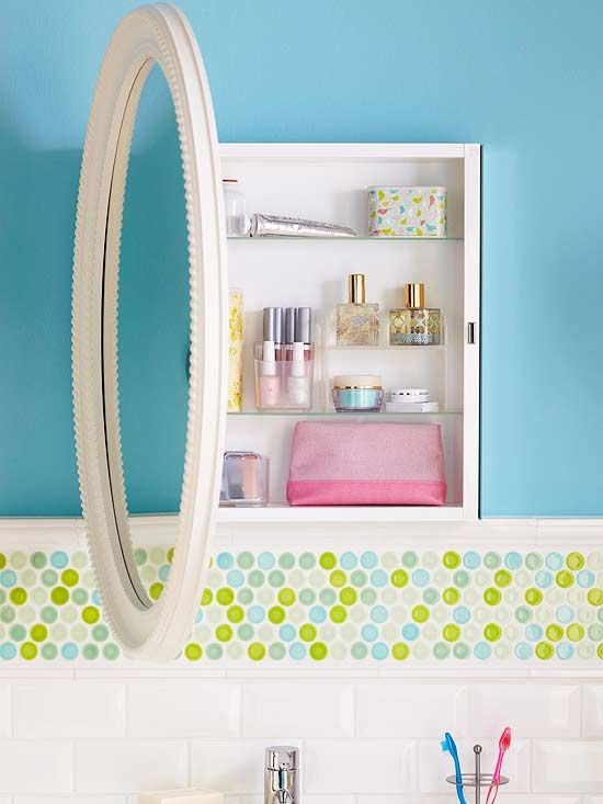 21 Smart Ways To Store A Whole Lot More In Your Bathroom Small Space Storage Solutions Redo Cabinets Medicine Cabinet Redo