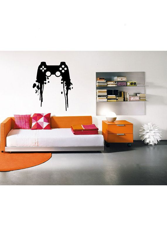 Wall color is another important issue. Playstation Controller Paint Splatter Decal - Gaming ...