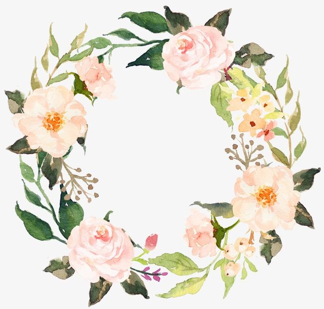This graphic is about watercolor floral, frame, flower, spring and ...