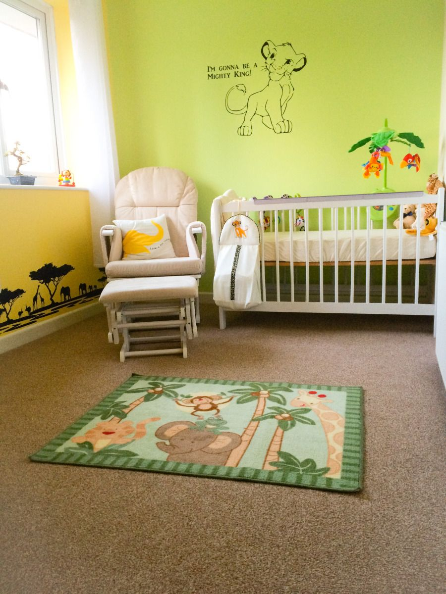 Safari Lion King Themed Nursery With