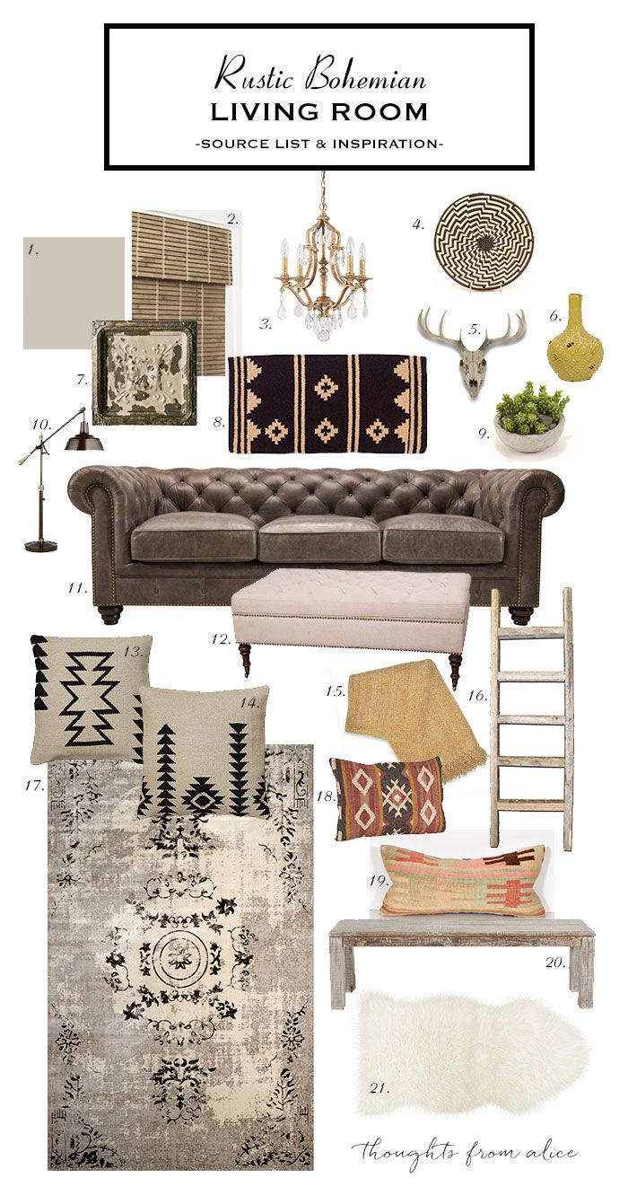 Creating A Rustic Living Room Decor: Thoughts From Alice: How To Create A Rustic Bohemian