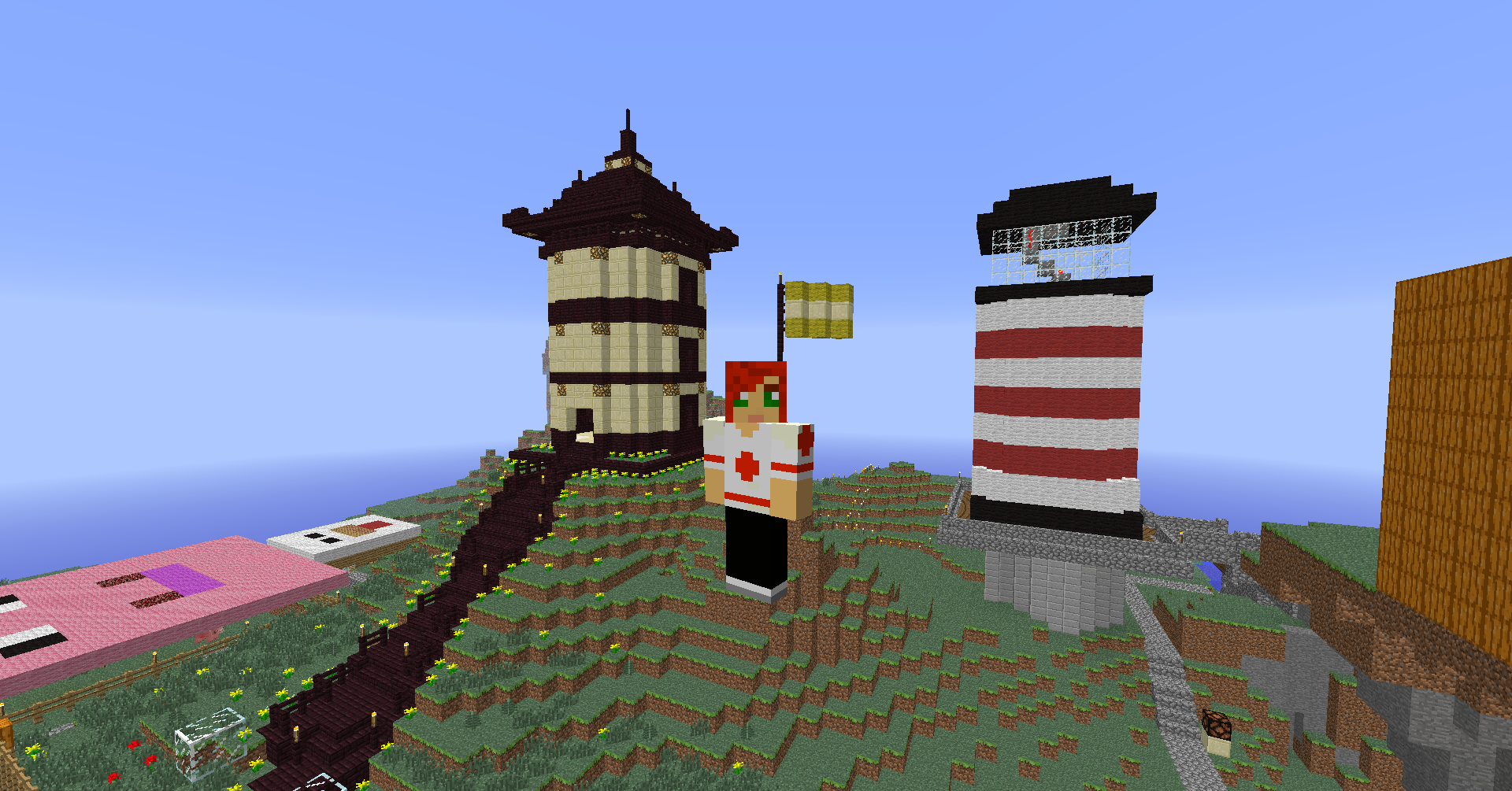 Asian Inspired Tower Exterior (View 2)