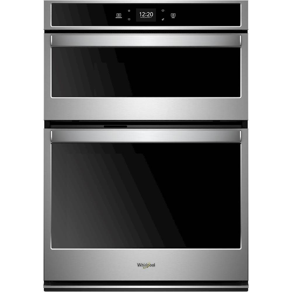 Whirlpool 30 Single Electric Wall Oven With Built In Microwave Stainless Steel Woc54ec0hs Best Buy In 2020 Wall Oven Stainless Steel Microwave Built In Microwave