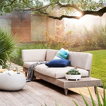 Build Your Own Portside Outdoor Low Sectional Pieces Weathered
