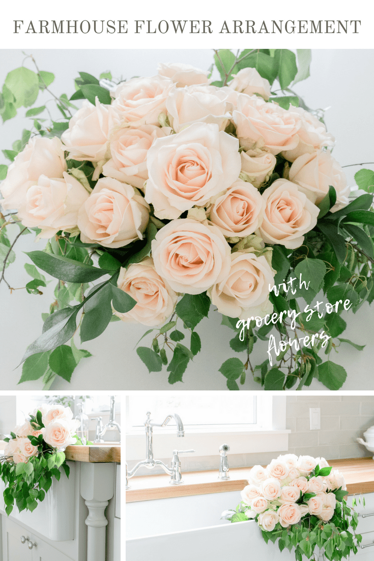 How To Arrange Grocery Store Flowers To Create A Charming Farmhouse Style  Flower Arrangement | Www