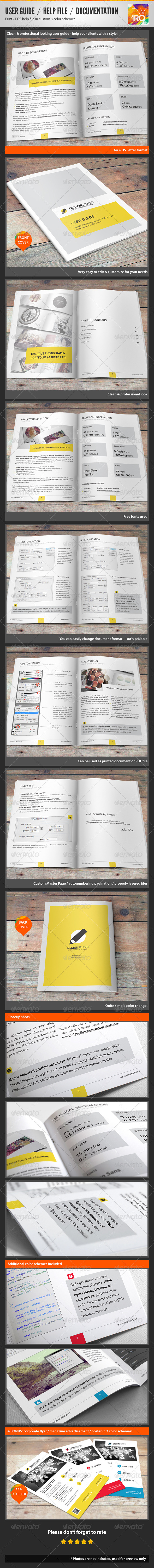 Guide Templates Help File  Illustrated Documentation  User Guide  Indesign .