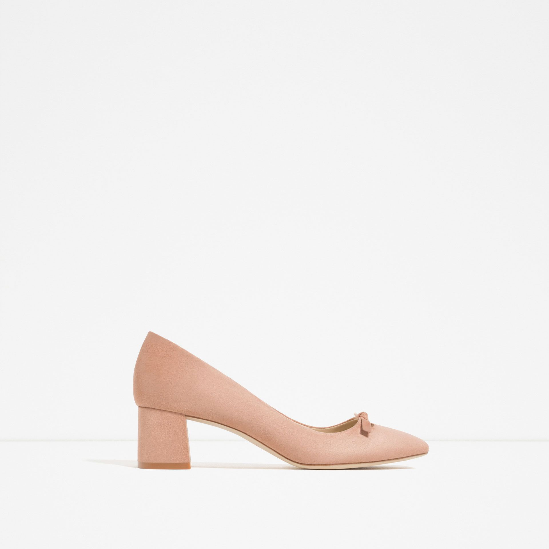 4459c3bd29f Zara High Heels Shoes With Bow Detail