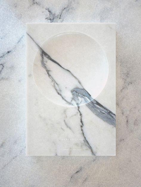 Statuary marble sample block, Jon W Benedict