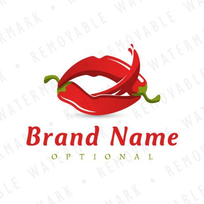 Chili Pepper Lips Logo Template | Logo templates, Logos and Template