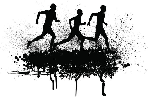10++ Cross country black and white clipart info