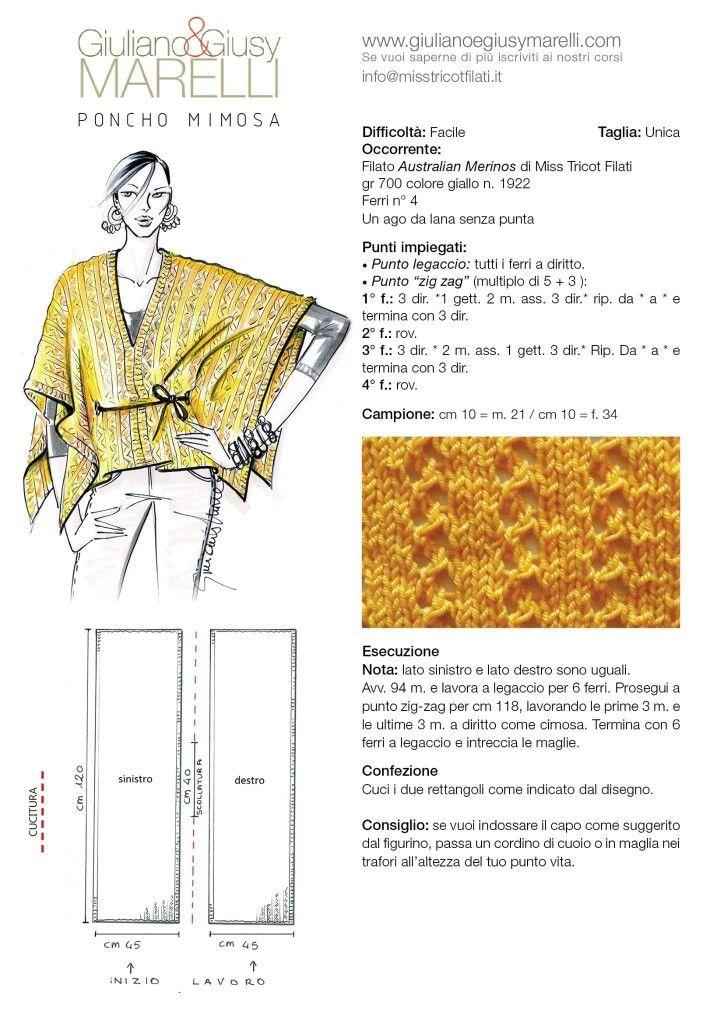 Pin de marilyn smith en wraps/ponchos | Pinterest | Tejido, Ponchos ...