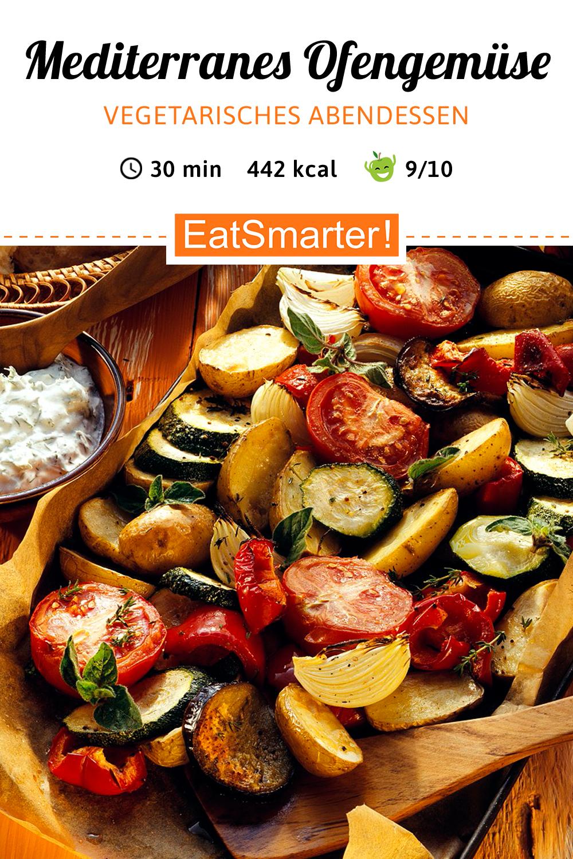 Vegetarisches Abendessen: Ofengemüse