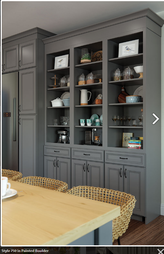 Style 750 In Painted Boulder Kitchen Cabinets Elegant Kitchens Cabinet