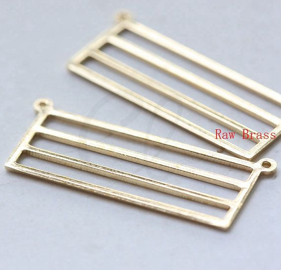 20pcs Raw Brass Rectangle Link  30x12mm 3098C-M-312 by clbeads