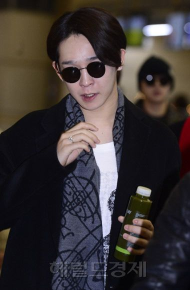 141201 Taehyun at Incheon Airport (Departure to Hong Kong)!