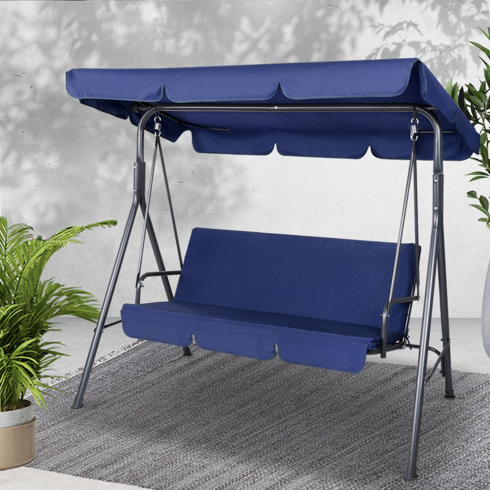 Hayman 3 Seater Outdoor Canopy Swing Chair Online Only Canopy Swing Canopy Outdoor Swinging Chair