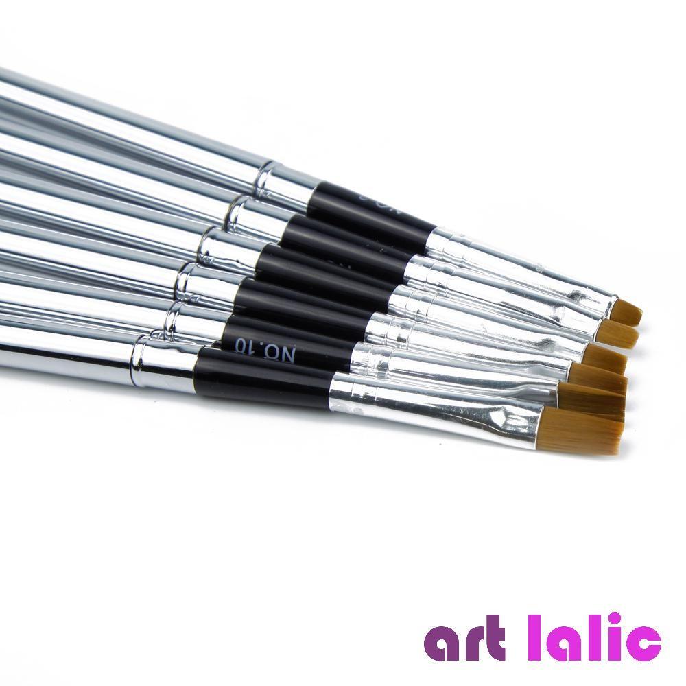 6 Pcs Detachable UV Gel Brushes Set Acrylic Nail Art Design Builder ...
