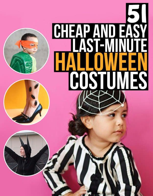 51 Cheap And Easy Last-Minute Halloween Costumes New Halloween - last minute halloween costume ideas for women