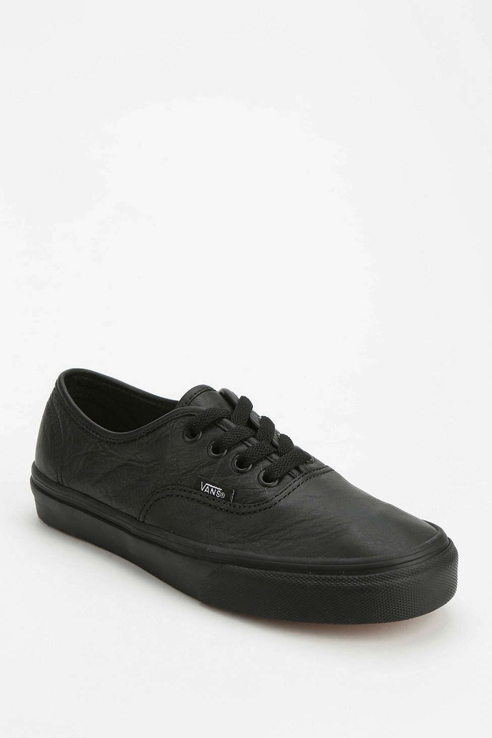 Vans authentic black, Leather vans