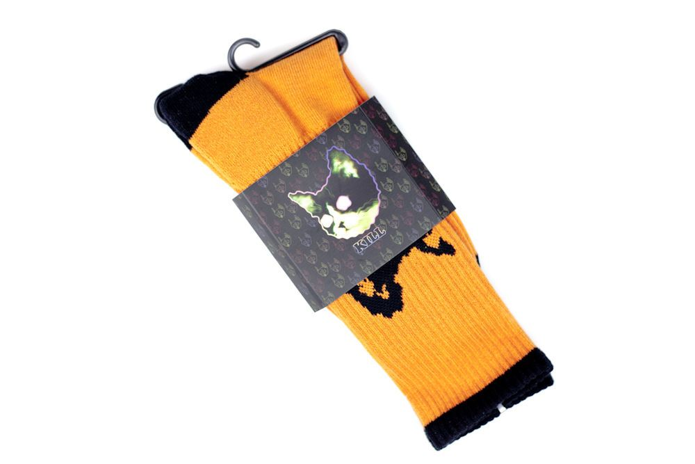 313a11b13eff Odd Future Golf Wang Orange Black Cat Socks NWT  20  GolfWang  Fashion